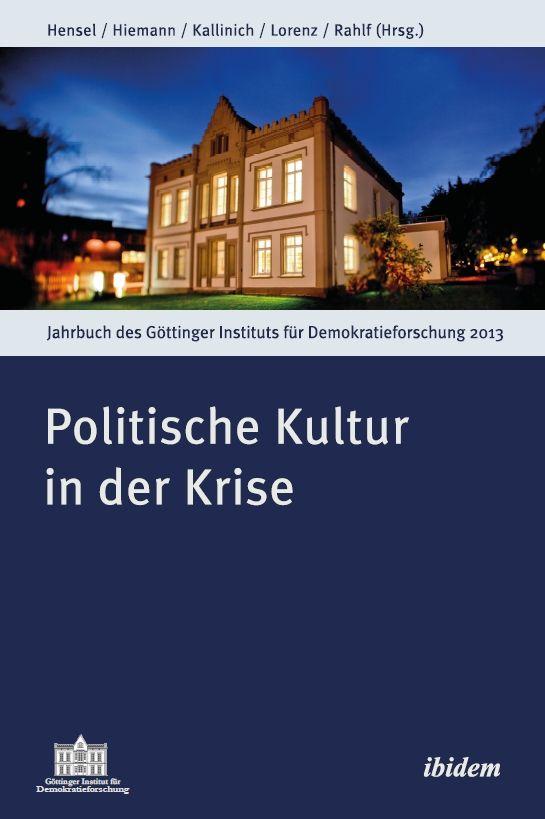 Cover ›Politische Kultur in der Krise‹